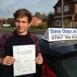 Matt Heath passed with Steve Chaplin Driving School