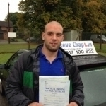 Matthew Chauntry passed with Steve Chaplin Driving School