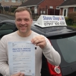 Michael Alan Byrne passed with Steve Chaplin Driving School