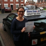 Molly Tanner passed with Steve Chaplin Driving School