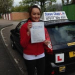 Nedith Mara Andrews passed with Steve Chaplin Driving School