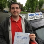 Oliver Love passed with Steve Chaplin Driving School