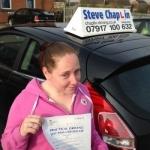Rebecca Elliott passed with Steve Chaplin Driving School