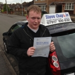 Rob Wall passed with Steve Chaplin Driving School