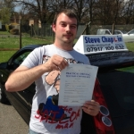 Robert Parker passed with Steve Chaplin Driving School