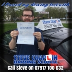 Ryan Frost passed with Steve Chaplin Driving School