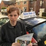 Sam Callaghan passed with Steve Chaplin Driving School