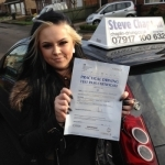 Samantha Fletcher passed with Steve Chaplin Driving School