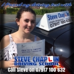 Shannon Brady passed with Steve Chaplin Driving School