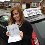 Sian Broad passed with Steve Chaplin Driving School