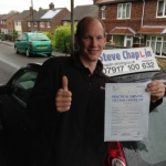 Simon Chippendale-Scott passed with Steve Chaplin Driving School