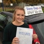 Sinead Edwards passed with Steve Chaplin Driving School