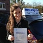 Sophie Clark passed with Steve Chaplin Driving School