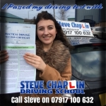 Stacey Annable passed with Steve Chaplin Driving School