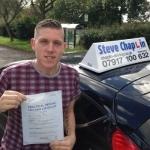 Steven Sweetman passed with Steve Chaplin Driving School