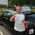 Vere Thorpe passed with Steve Chaplin Driving School