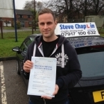 Will Jennison passed with Steve Chaplin Driving School