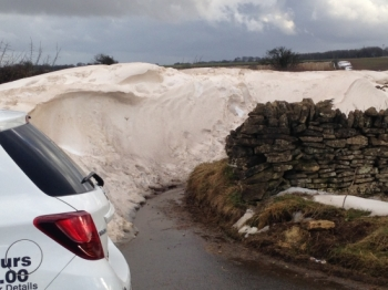 This road will be closed for a good few days yet!