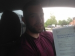 Passed. Adam Olijnyk of Gloucester passed with Mike Williams Driving School