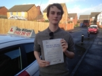 Alex Bowkett of Gloucester passed with Mike Williams Driving School