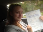 Passed. Alice Howard of Gloucester passed with Mike Williams Driving School