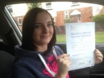 Passed. Alyx Taylor of Gloucester passed with Mike Williams Driving School