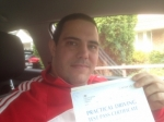 Passed. Balazs Kocsis of Gloucester passed with Mike Williams Driving School