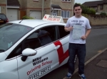 Passed. Cameron Billingham of Gloucester passed with Mike Williams Driving School
