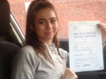 Passed. Chloe Perez of Gloucester passed with Mike Williams Driving School