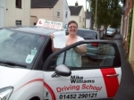 Passed. Clare Cave-Ayland of Gloucester passed with Mike Williams Driving School