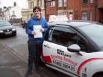 Passed. Dan Goodwin of Gloucester passed with Mike Williams Driving School