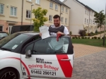 Passed. Dean Jouni of Cheltenham passed with Mike Williams Driving School