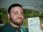 Passed. Dominic Smith of Gloucester passed with Mike Williams Driving School