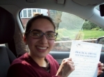 Passed. Francesca Belletty of Gloucester passed with Mike Williams Driving School