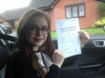 Passed. Grace Smart of Gloucester passed with Mike Williams Driving School