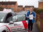 Passed. Hannah Baker of Gloucester passed with Mike Williams Driving School
