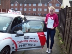 Passed. Hannah Sayers of Gloucester passed with Mike Williams Driving School