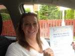 Helen Howe of Gloucester passed with Mike Williams Driving School