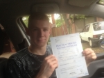 Matt Boughton of Gloucester passed with Mike Williams Driving School