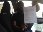 Edward Nweke of Gloucester passed with Mike Williams Driving School