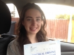 Emily Vernall of Gloucester passed with Mike Williams Driving School