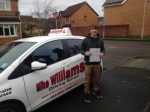 Dan Christie of Gloucester passed with Mike Williams Driving School