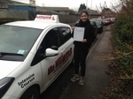 Isabella Diaz Paramo of Gloucester passed with Mike Williams Driving School