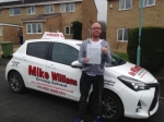 Nick West of Gloucester passed with Mike Williams Driving School