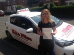 Cara McGrath of Gloucester passed with Mike Williams Driving School