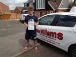 Ryan Cook of Gloucester passed with Mike Williams Driving School