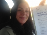 Danielle Muir from Gloucester passed with Mike Williams Driving School