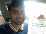 Wajhat Hussain of Gloucester passed with Mike Williams Driving School