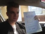 Passed. Jack Dawson of Gloucester passed with Mike Williams Driving School