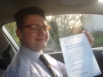 Passed. Joe Hartshorn of Gloucester passed with Mike Williams Driving School